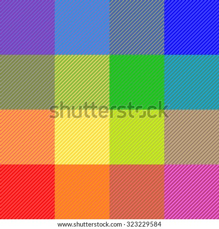 Checkered textile pattern. Rainbow colors. Retro textile collection. Bright. Backgrounds & textures shop. - stock vector
