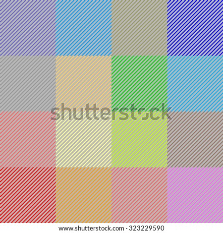 Checkered textile pattern. Rainbow colors. Retro textile collection. Light. Backgrounds & textures shop. - stock vector