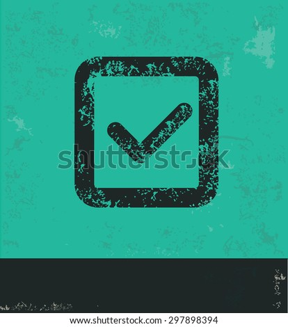 Checking design on green background,grunge vector - stock vector