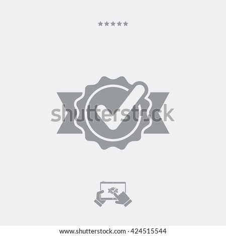 Checking quality symbol icon - stock vector