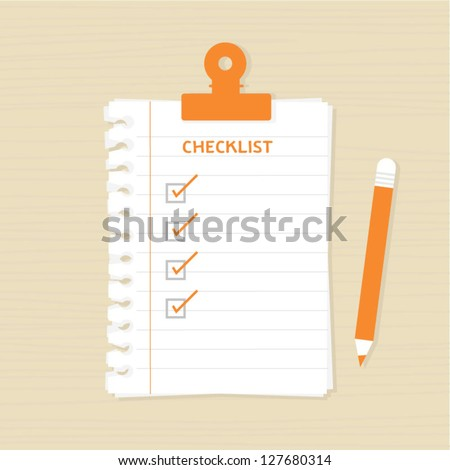 Checklist - stock vector