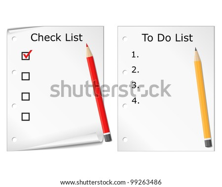 Checklist and todo list, vector eps10 illustration