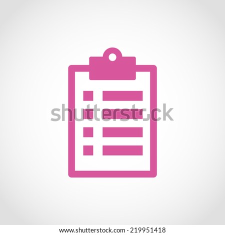 Checklist Icon Isolated on White Background - stock vector