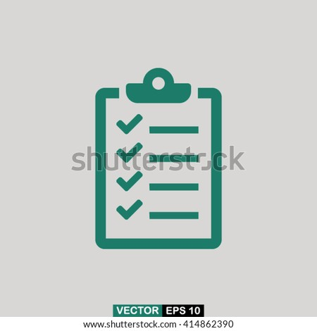 Checklist icon vector, checklist icon eps10, checklist icon picture, checklist icon flat design, checklist icon, checklist web icon, checklist icon art, checklist icon drawing, checklist icon - stock vector