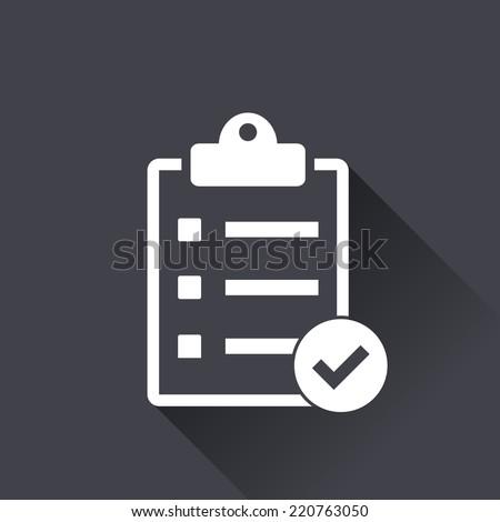 checklist icon , vector illustration , flat design - stock vector