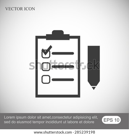 Checklist vector icon - stock vector
