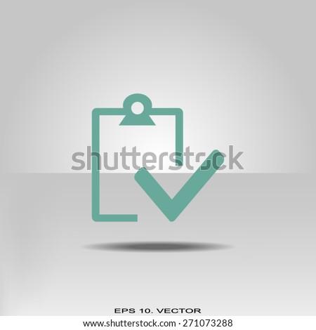 checkmark icon - stock vector