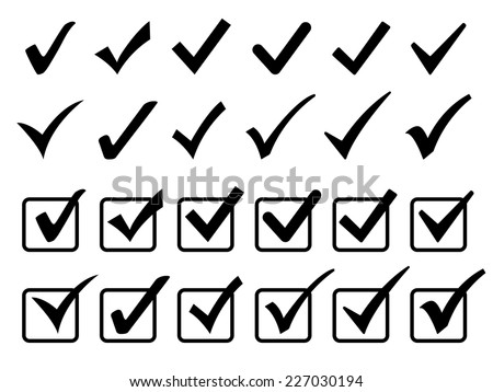 Checkmark icons set - stock vector