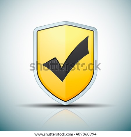 Checkmark Shield sign - stock vector