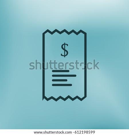 checkout receipt purchase receipt line art stock vector royalty