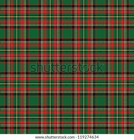 checks fabric. tartan. Seamless background - stock vector