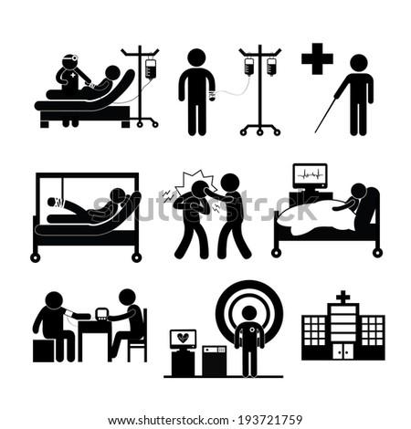 Checkup Medical Hospital Vector Symbol Cartoon Stock