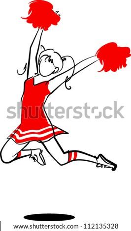 Cheer leader - stock vector