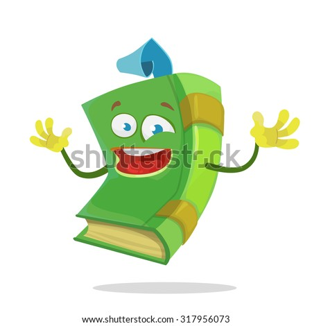 cheerful cartoon green book