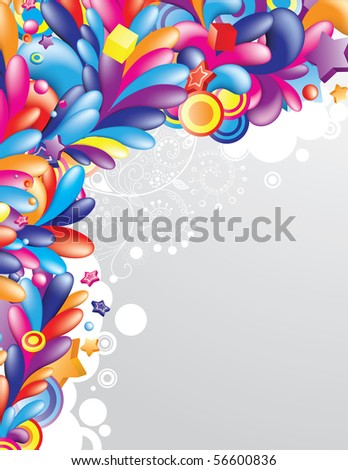 Cheerful festive background with space for your message - stock vector
