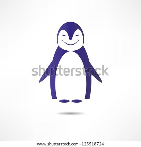 Cheerful penguin. - stock vector