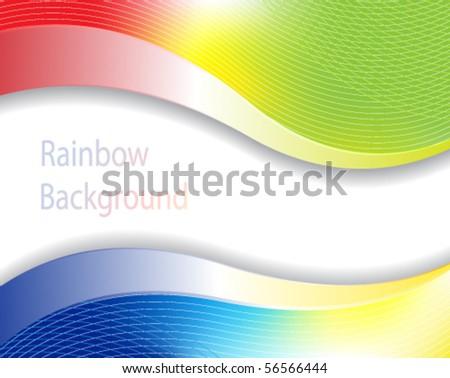 Cheerful rainbow background.  Bright stock illustration - stock vector