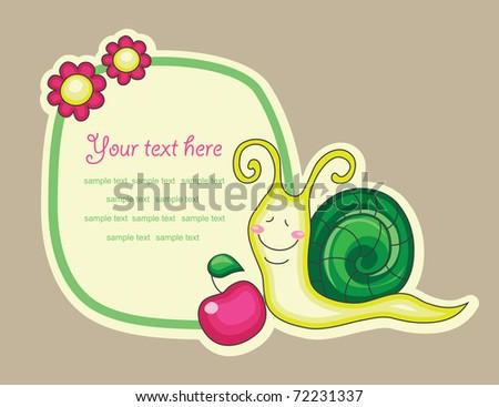 cheerful snail. vector illustration - stock vector