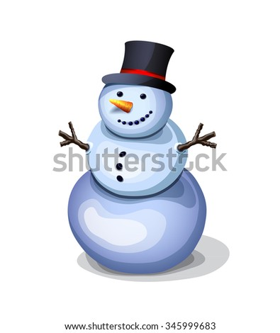 cheerful snowman. pleasant winter decoration