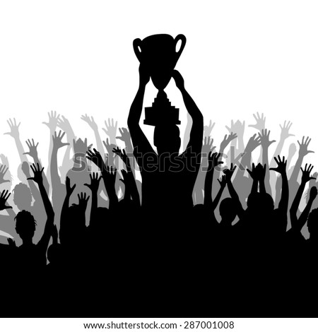 Cheering Crowd Silhouette Stock Images, Royalty-Free Images ...