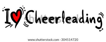 Cheerleading love - stock vector
