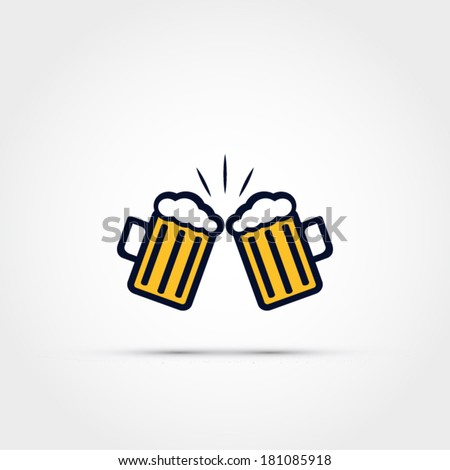 Cheers icon - stock vector