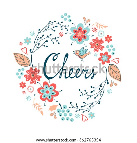 Cheers stylish concept card - stock vector
