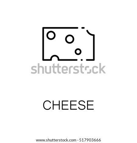 Cheese Flat Icon Single High Quality Stock Photo Photo Vector