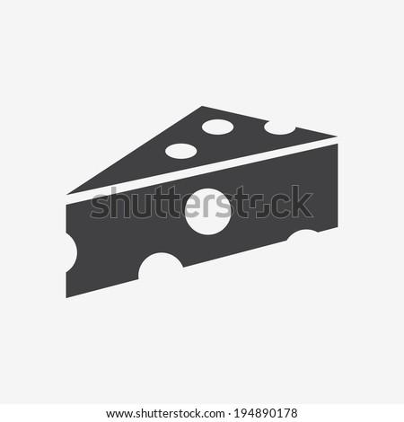 cheese icon - stock vector