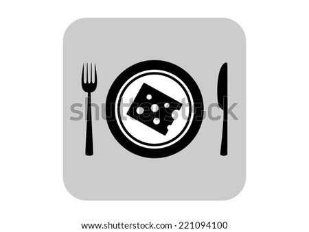 Cheese on porcelain plate