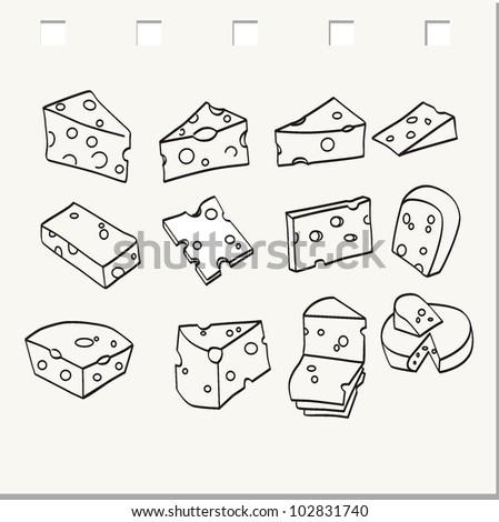 Cheese set - stock vector
