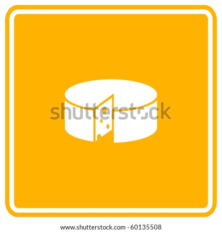 cheese sign - stock vector