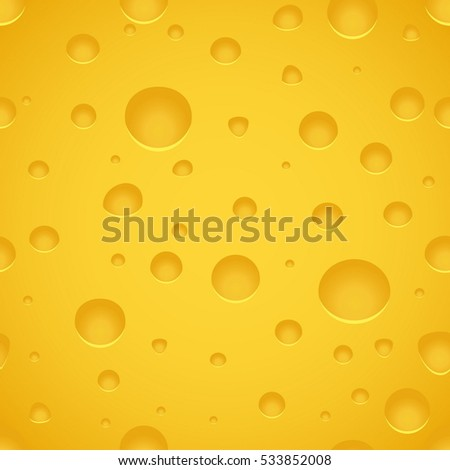 Cheese Texture Pattern. Seamless Background. Vector Illustration