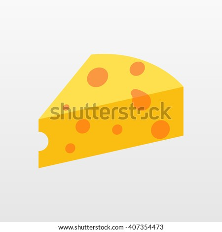 Cheese vector icon. Flat yellow symbol for web. Logo illustration.