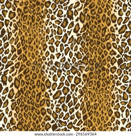Cheetah or leopard fur repeating pattern tile - stock vector