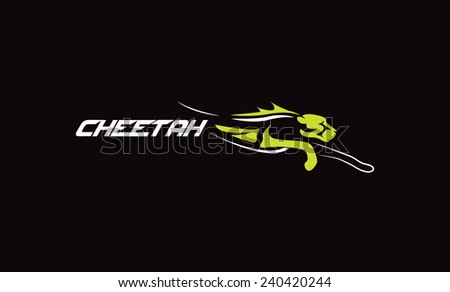 Cheetah stylized  - stock vector