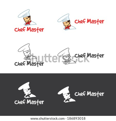Chef Character Illustration Vector - stock vector