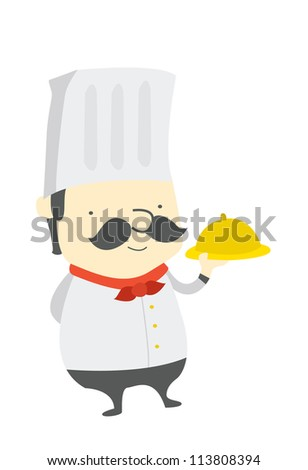chef funny - stock vector