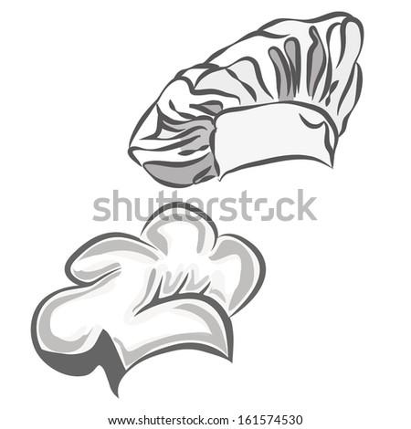 chef hat vector - stock vector