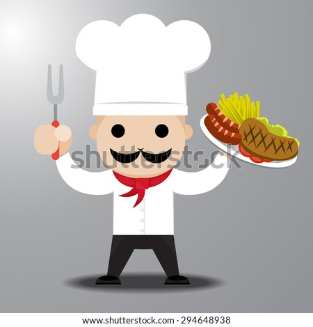 chef holding steak on dish ready to serve