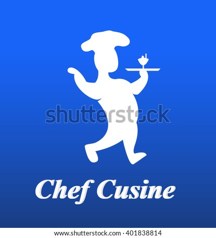 Chef icon logo - stock vector