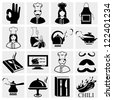 Chef icons - stock photo