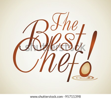 Chef logo - stock vector