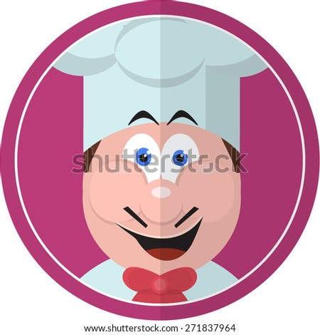 Chef Restaurant Sticker - stock vector