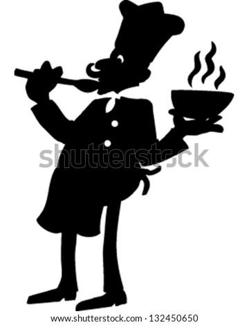 Chef Silhouette - stock vector