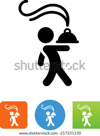 Chef symbol for download. Vector icons for video, mobile apps, Web sites and print projects.  - stock vector