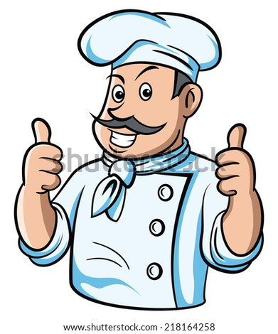 Chef Thumb Up - stock vector