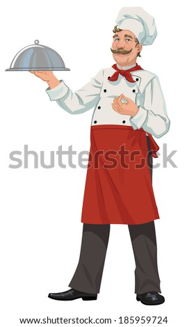 chef tray closed - stock vector