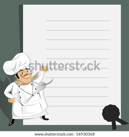 Chef with recipe