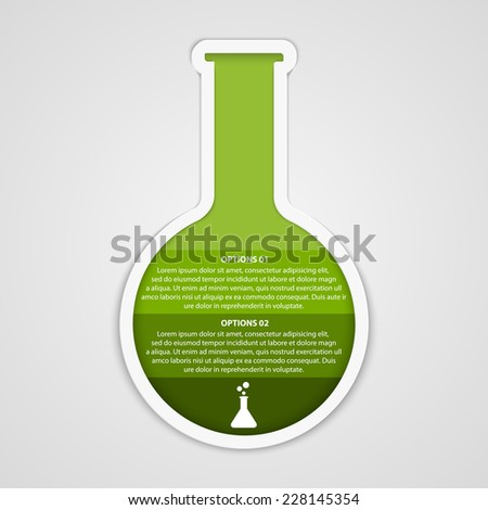 Chemical and science infographic design concept. Vector illustration - stock vector
